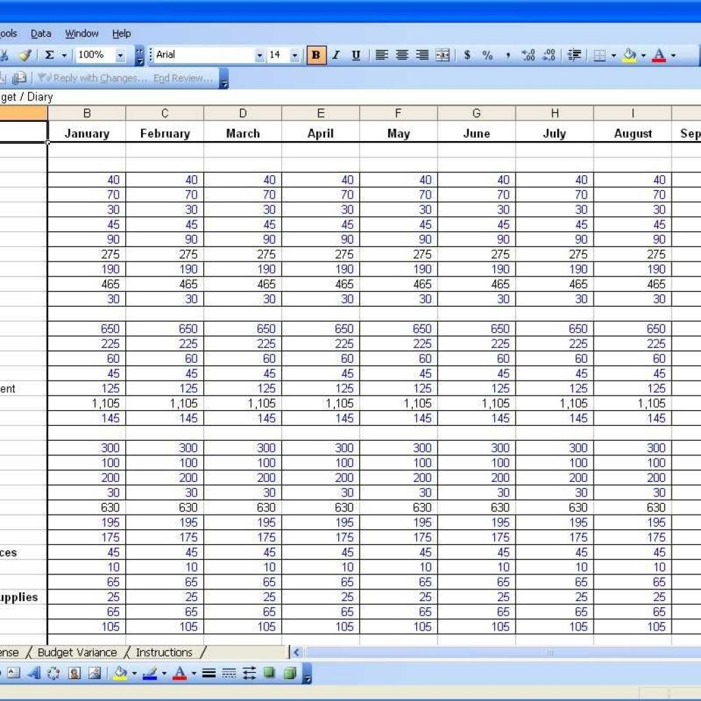 Bank Of America Budget Spreadsheet For Bank Of America Budget Sheet Financial Budget Spreadsheet Template