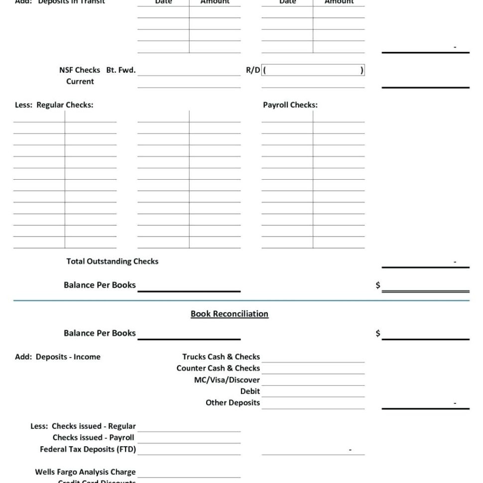 Bank Reconciliation Excel Spreadsheet With Regard To Checking Account Reconciliation Worksheet Template Bank Excel