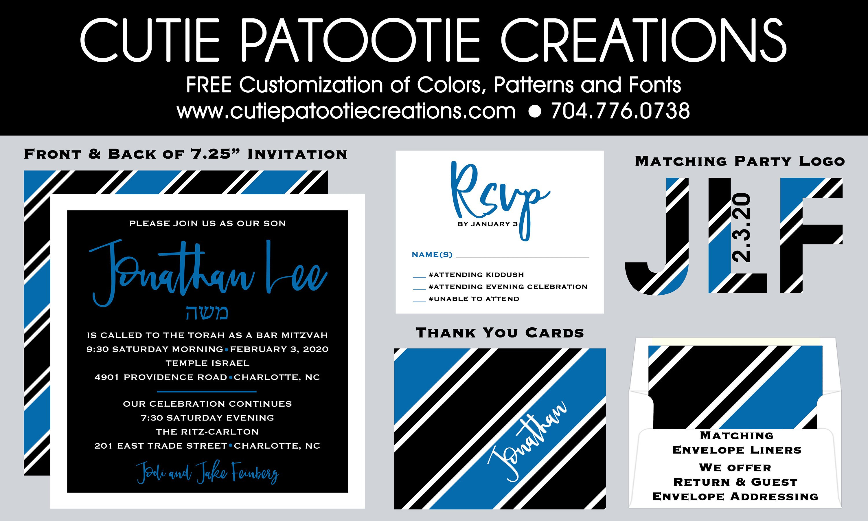 Bar Mitzvah Planning Spreadsheet In Bar Mitzvah Invitations Rsvp Card Thank You Notes Save  Etsy