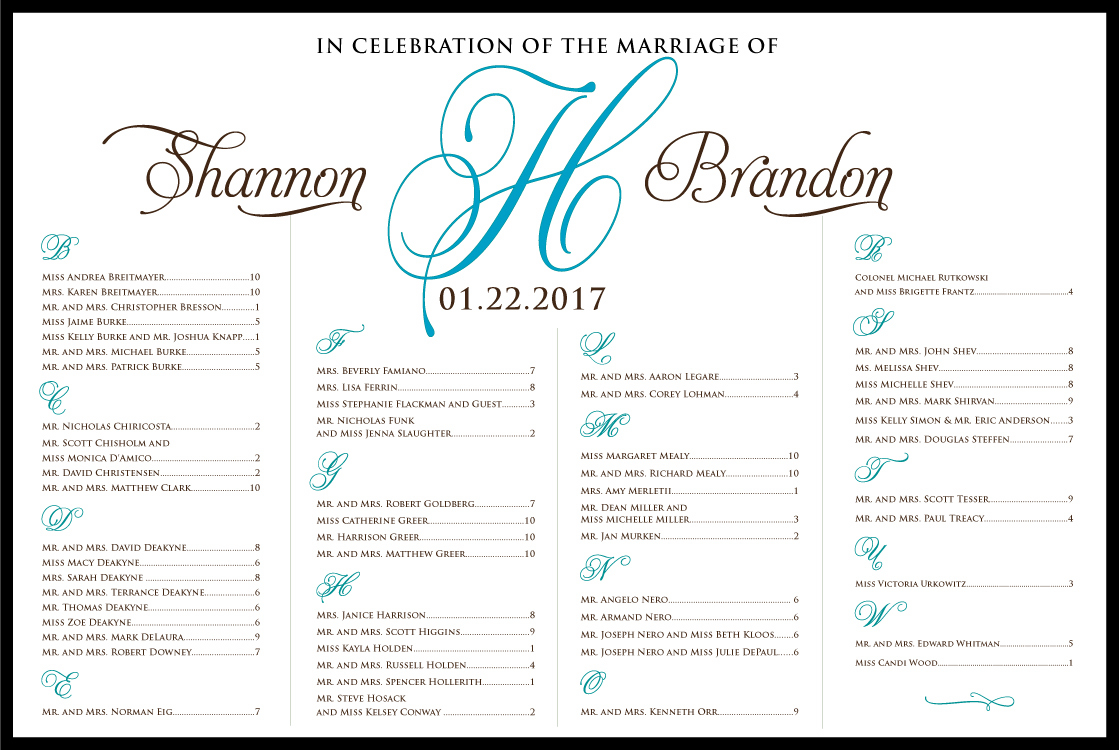 Bar Mitzvah Planning Spreadsheet Inside Simple But Elegant – Table Plan Seating Chart Scroll – Custom