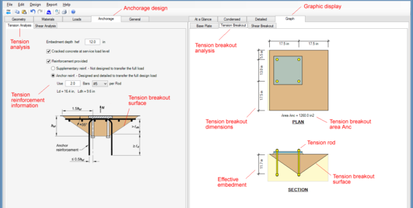 Base Plate Design Spreadsheet Free For Steel Beam, Column, Plate, Anchor, Connection Software  Asdip Steel