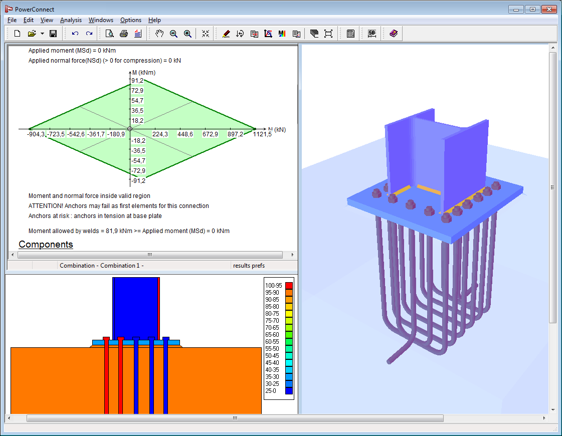 Base Plate Design Spreadsheet Free Regarding Bolted And Welded Steel Connection Design Software