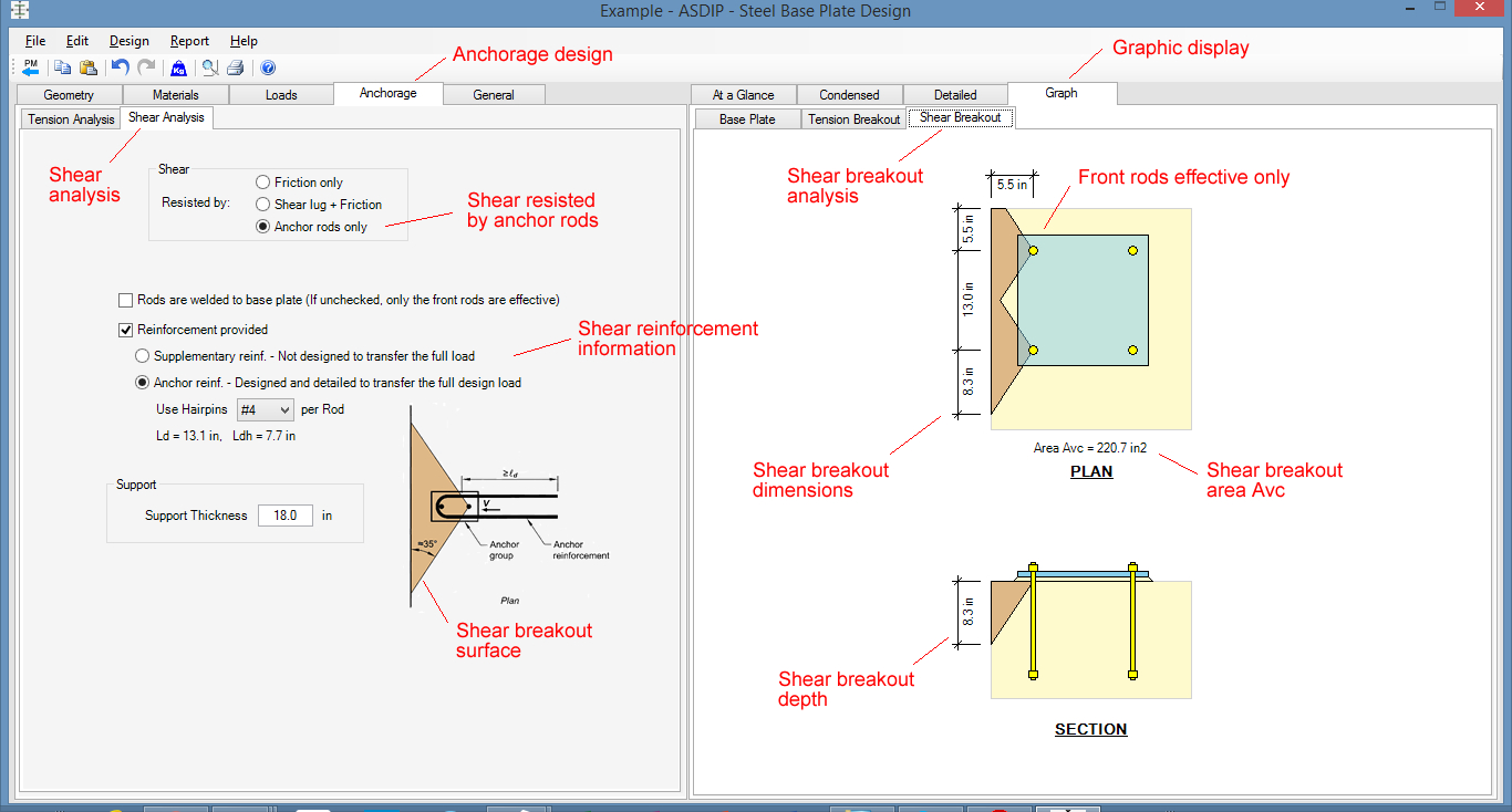 Base Plate Design Spreadsheet Free Regarding Steel Beam, Column, Plate, Anchor, Connection Software  Asdip Steel