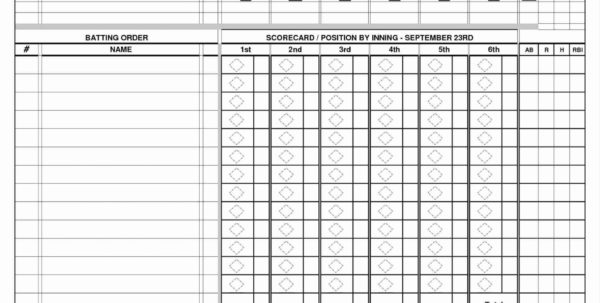 Baseball Card Excel Spreadsheet Intended For 008 Excel Spreadsheet For Baseball Stats New Softball Lineup