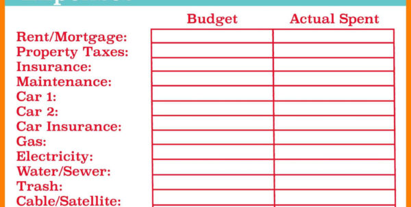 Basic Expenditure Spreadsheet Inside Example Of Budget Spreadsheet For Business Monthly Household Simple