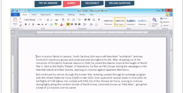 Basic Spreadsheet Proficiency With Microsoft Excel Within Word Skills Assessment Test  Free Word Test