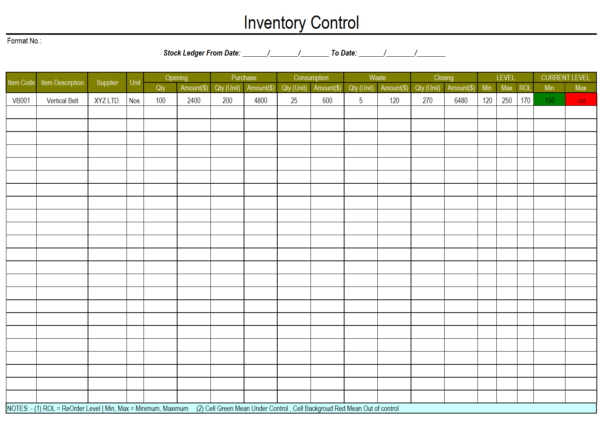 Basic Stock Control Spreadsheet Within Spreadsheet Inventory Control Template Sheet Example Of Simple