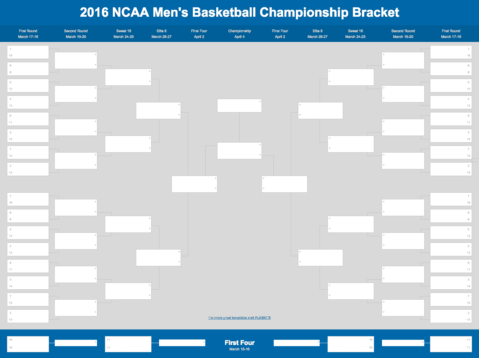 Basketball Spreadsheet For 2018 March Madness Bracket Excel And Google Sheet
