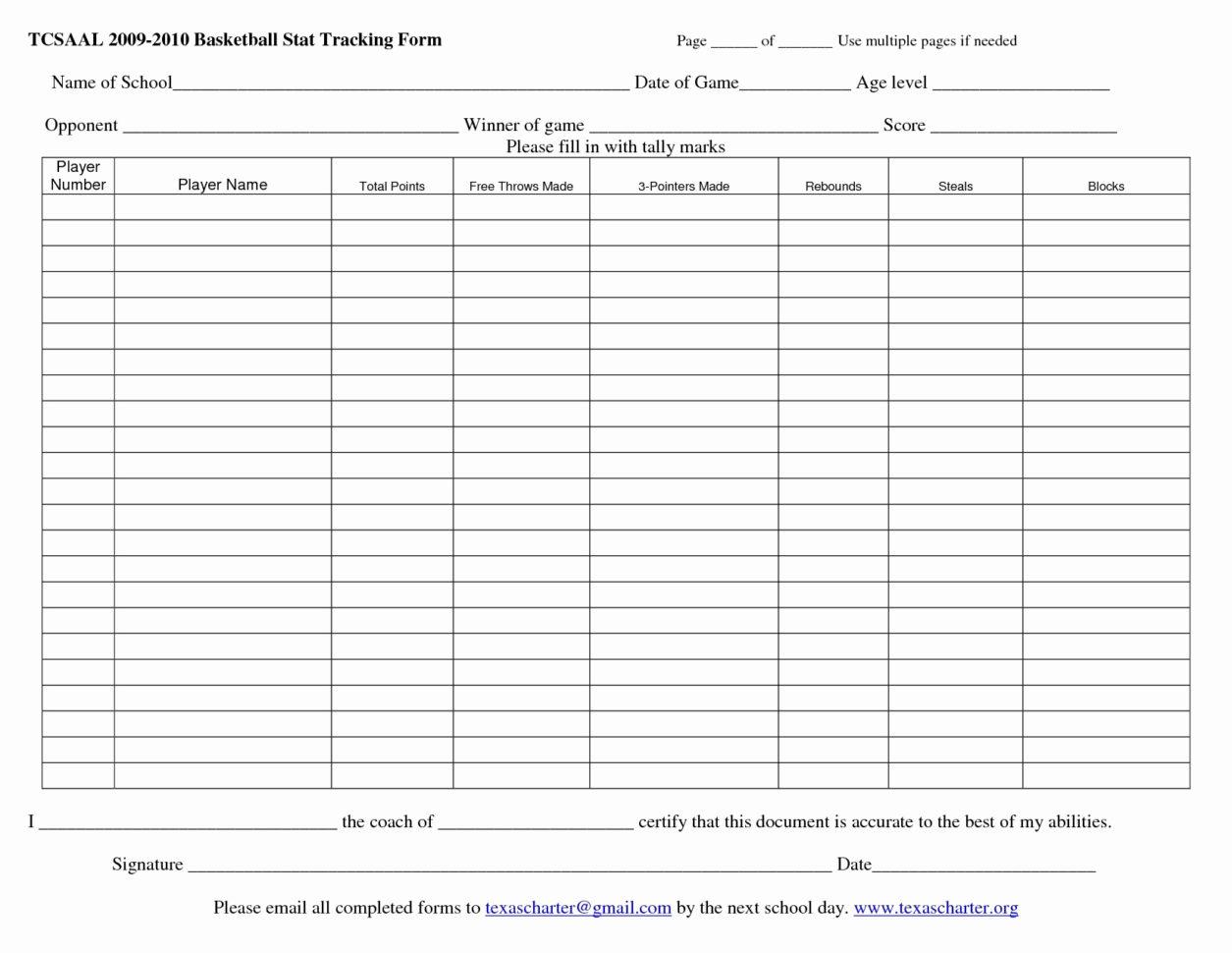 Basketball Stats Spreadsheet Regarding Printable Basketball Stat Sheet Template Free Football Stats Excel