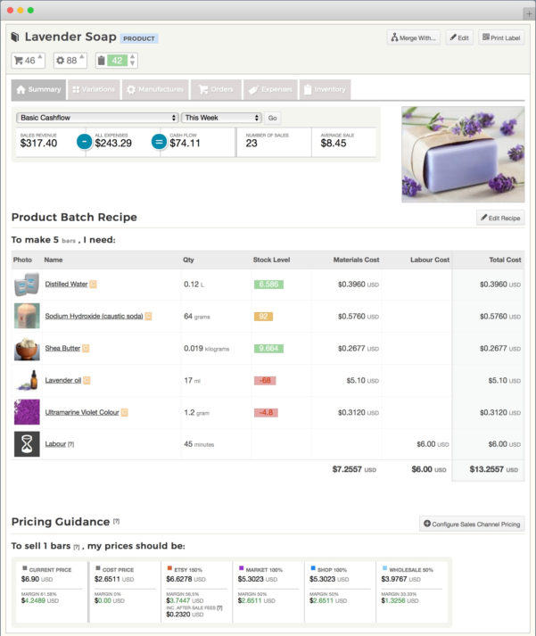 Bead Inventory Spreadsheet Pertaining To Etsy Inventory Spreadsheet  Craftybase