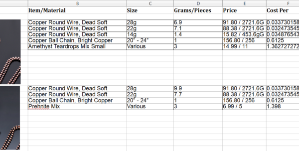 Bead Inventory Spreadsheet With Record Keeping For Your Home Jewelry Business  Nicole Hanna Jewelry