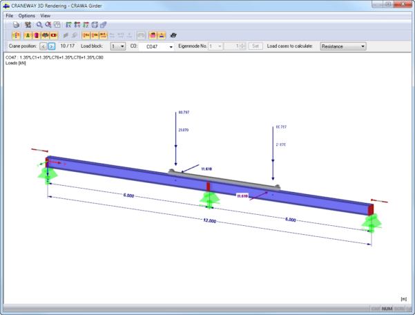 Beam Splice Design Spreadsheet Regarding Craneway: Craneway Girder Design Acc. To Eurocode 3  Dlubal Software