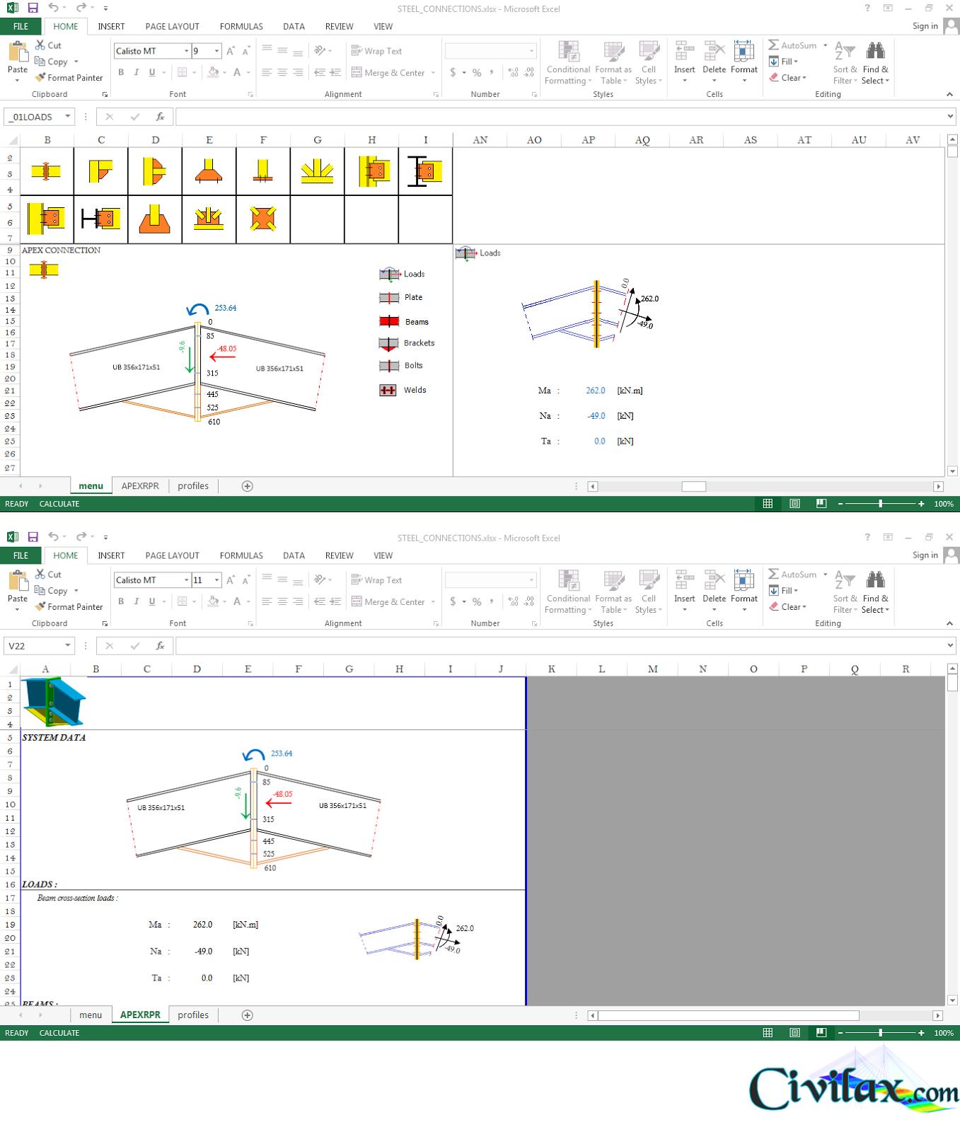Beam Splice Design Spreadsheet Within Steel Connection Design Spreadsheet