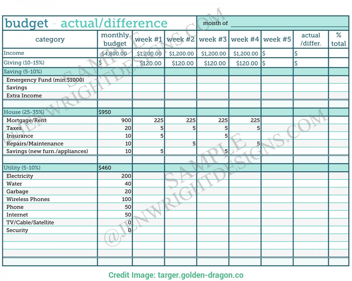 Beauty Salon Budget Spreadsheet Regarding Budget Sheet Example Targer Golden The Ison Law Group Household
