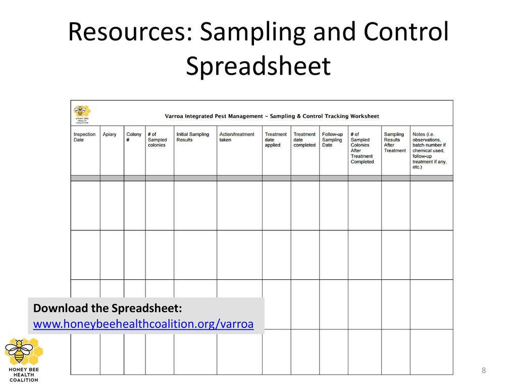 Beekeeping Spreadsheet For Protect Your Bees From Varroa Mites  Ppt Download