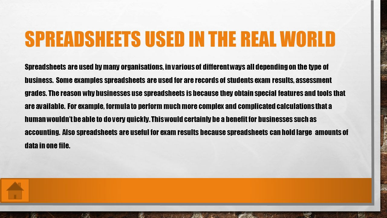 Benefits Of Using Spreadsheets In Business In Aaron Crockett Spreadsheets Used In The Real World Examples Of