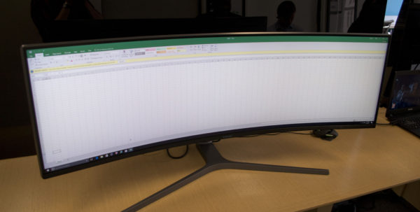 Best Monitor For Spreadsheets Intended For Samsung's Absurd New Curved Monitor Will Drown You In Screen