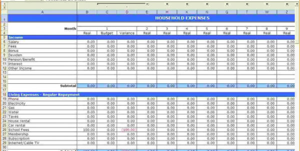 Best Personal Budget Spreadsheet Throughout 017 Simple Personal Budget Spreadsheet Excel Household Fr On