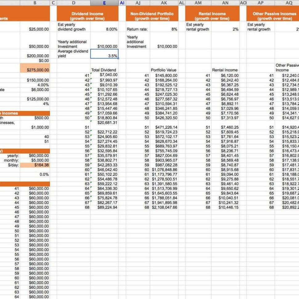 Best Retirement Calculator Spreadsheet With Best Retirement Calculator Spreadsheet And Simple Retirement