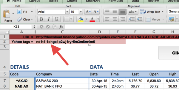 Best Way To Share Excel Spreadsheet Online In How To Import Share Price Data Into Excel  Market Index