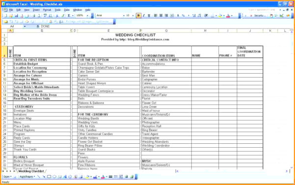 Best Wedding Guest List Spreadsheet Download For Best Wedding Guest List Spreadsheet Download 3  Discover China Townsf