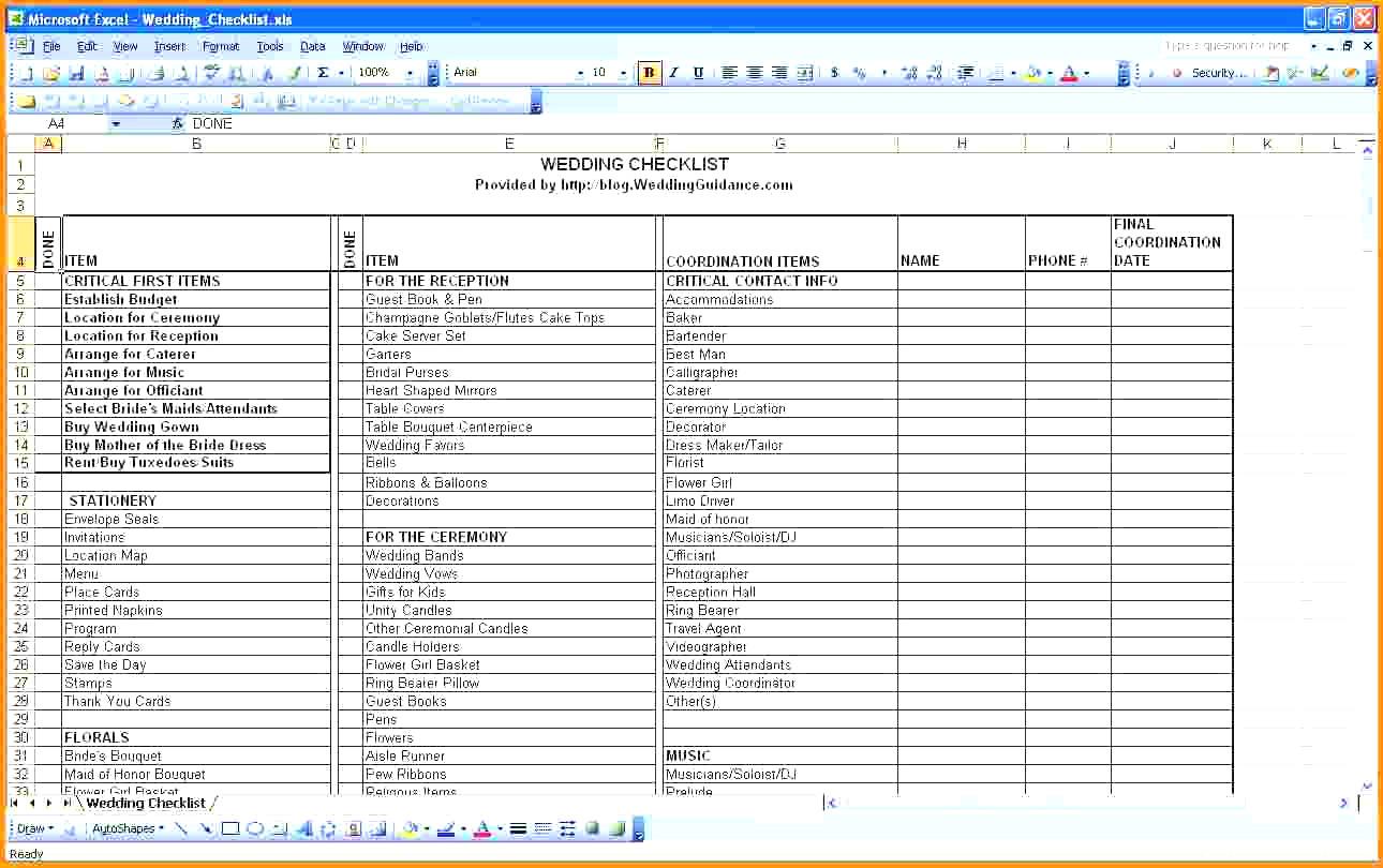 Best Wedding Guest List Spreadsheet Download For Best Wedding Guest List Spreadsheet Download 3  Discover China Townsf