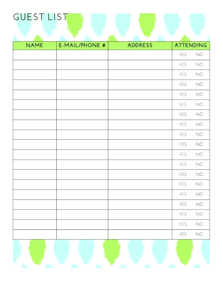 Best Wedding Guest List Spreadsheet Download Within Best Wedding Guest List Spreadsheet Download 13  Discover China Townsf