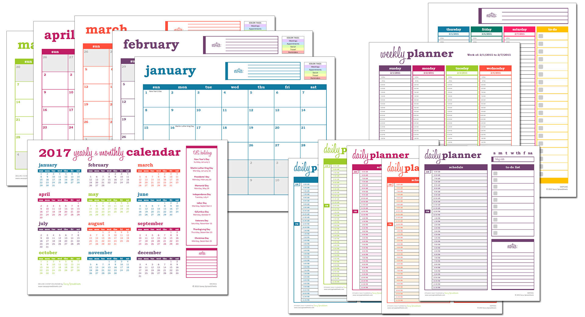 Better Spreadsheets Inside Why Excel Is Better Than Pdf For Calendars And Planners  Savvy