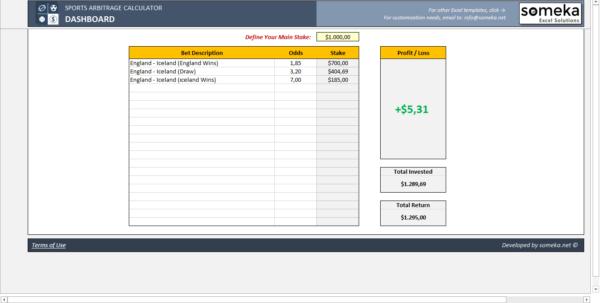 Forex arbitrage calculator excel
