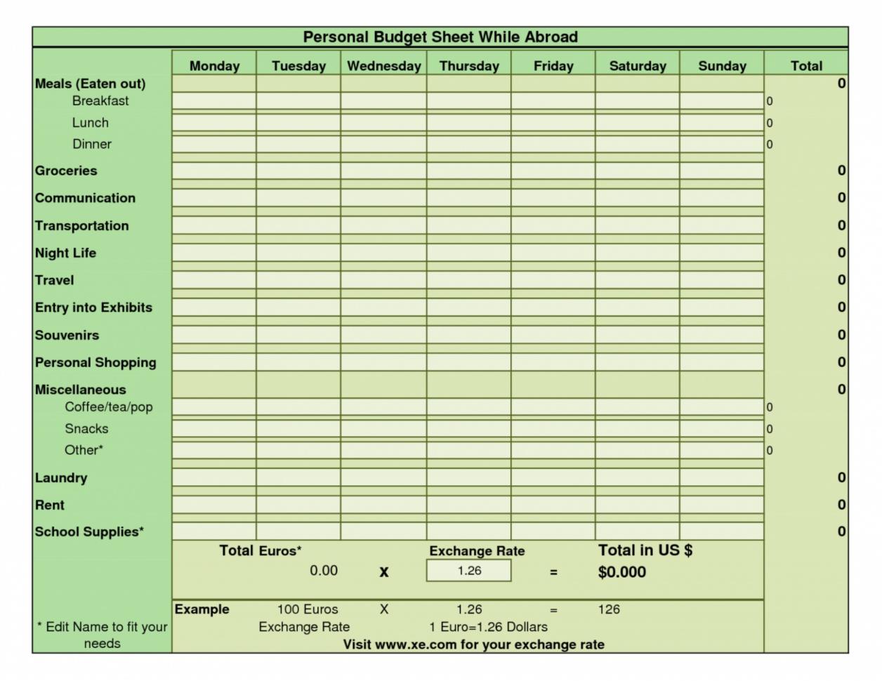 Bi Weekly Budget Spreadsheet For 009 Bi Weekly Budget Template Ic Google Spreadsheet Worksheet