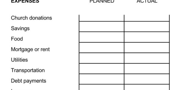 Bi Weekly Budget Spreadsheet Intended For 7  Biweekly Budget Templates  An Easy Way To Plan A Budget