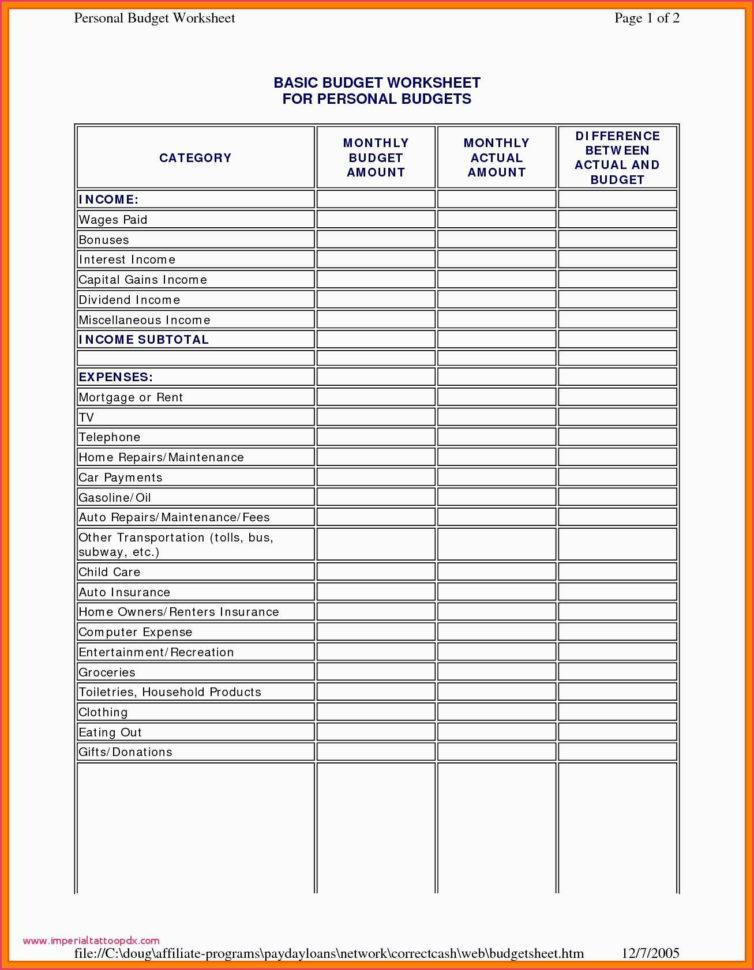 Bi Weekly Budget Spreadsheet Pertaining To Bi Weekly Budget Spreadsheet Template Simple Household Budget
