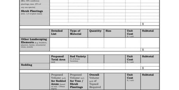 Bid Spreadsheet Pertaining To Construction Bid Sheet Template Sample Spreadsheet Invoice