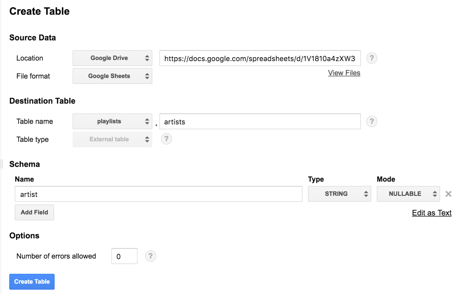 Big Data Spreadsheet Within Bigquery Integrates With Google Drive  Google Cloud Blog