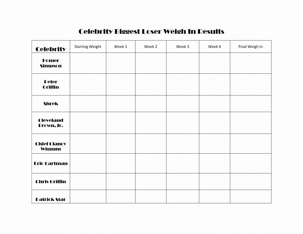 Biggest Loser Weight Loss Calculator Spreadsheet Within Biggest Loser Weight Loss Calculator Spreadsheet New Chart Template