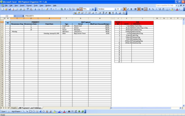 Bill Manager Spreadsheet Intended For Bill Manager Spreadsheet  Resourcesaver