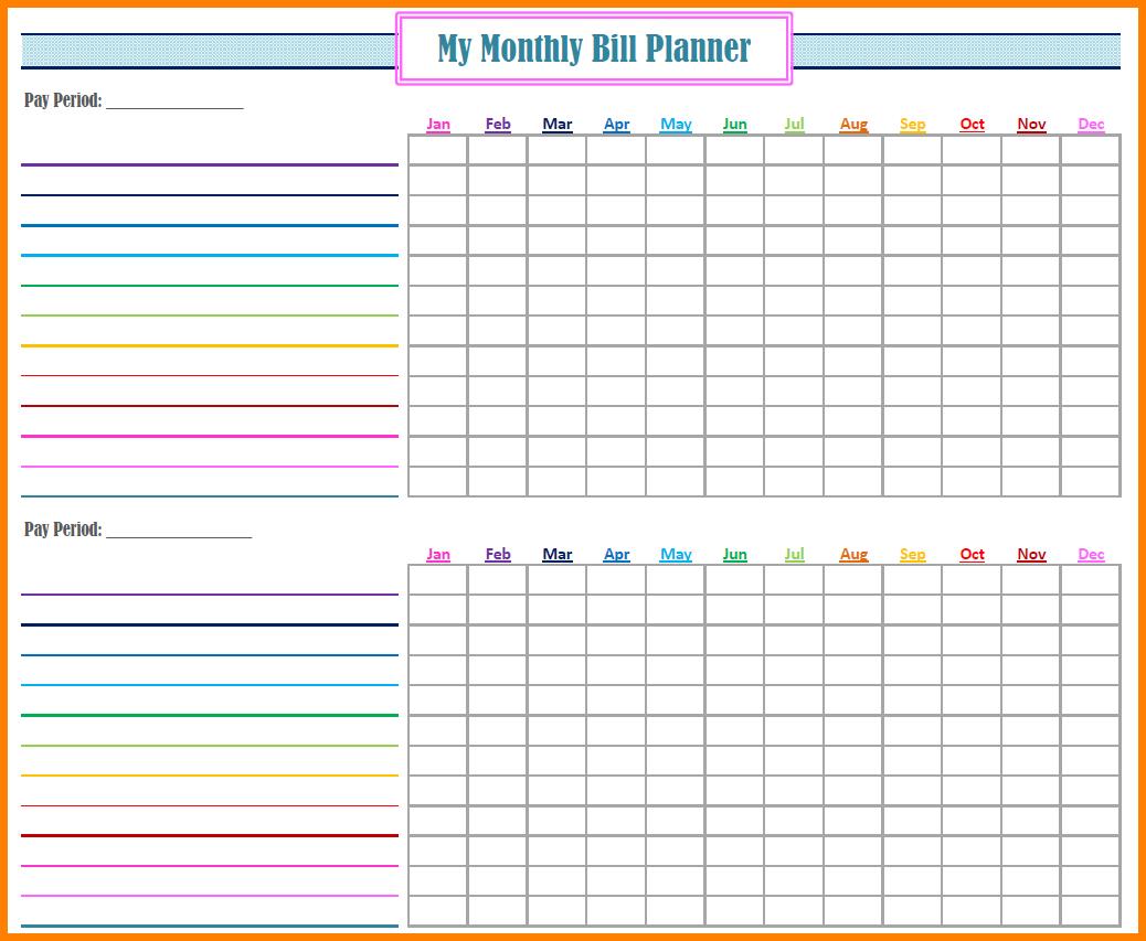 Bill Organizer Spreadsheet In Free Bill Organizer Printables Paying Template Yearly Spreadsheet