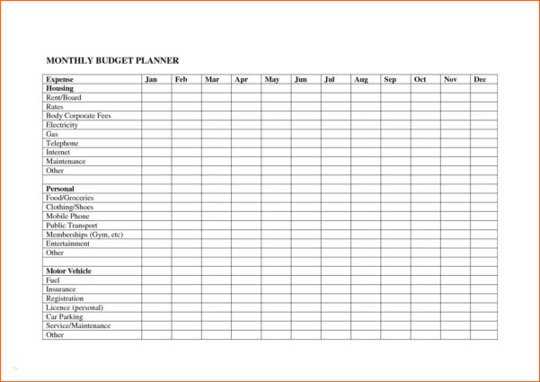 Bill Organizer Spreadsheet Regarding Monthly Bills Template Beautiful Monthly Bill Organizer Template