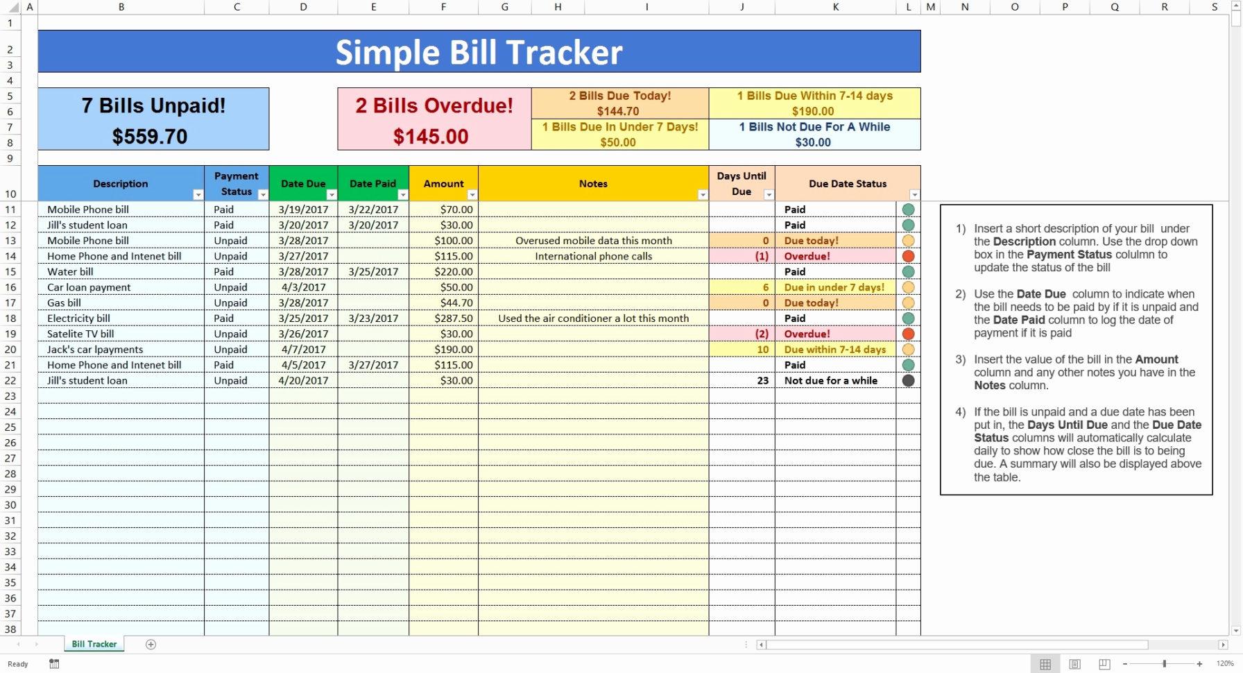 Bill Pay Spreadsheet Excel Throughout Bill Pay Spreadsheet Excel  Aljererlotgd