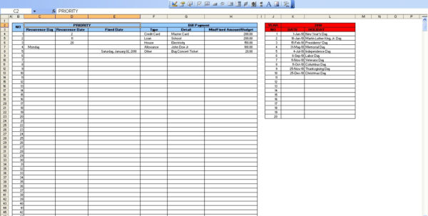 Bill Pay Spreadsheet Excel Within Excel Bill Payment  Kasare.annafora.co