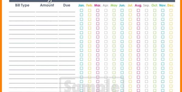 Bill Pay Spreadsheet In 10  Bill Pay Organizer Spreadsheet  Credit Spreadsheet