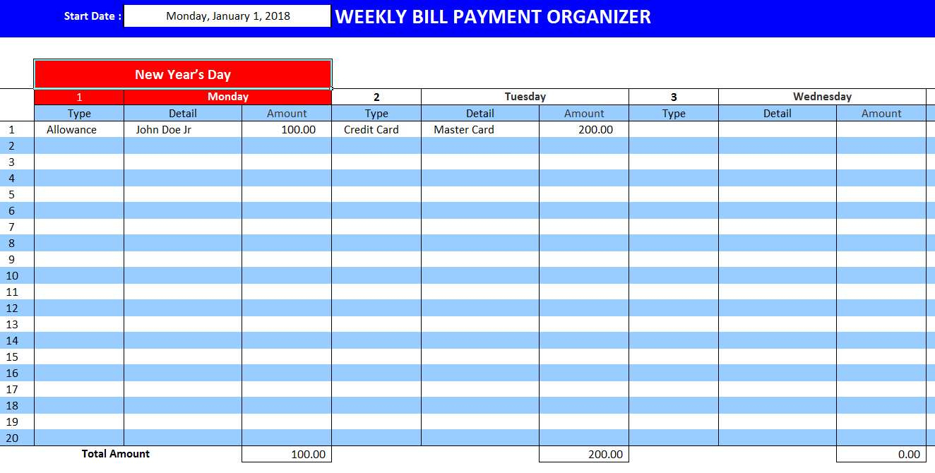Bill Payment Tracker Spreadsheet Inside Free Monthly Bill Payment Planner Template Template