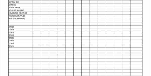 Bill Spreadsheet Example Intended For Free Home Budget Spreadsheet And Monthly Home Expenses Spreadsheet