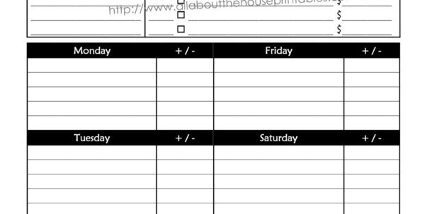 Bill Spreadsheet Pdf For Weekly Budget Spreadsheet Blank Monthly Examplest Frugal Fanatic