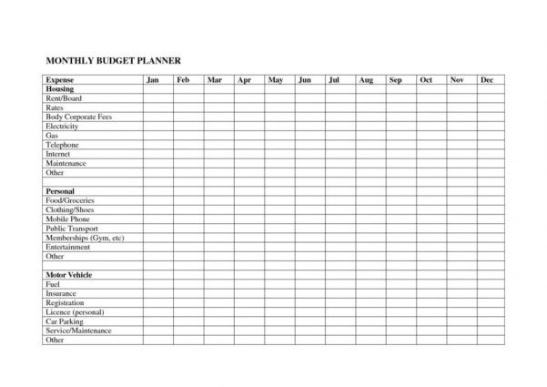 Bill Spreadsheet Template Free With Regard To Personal Budget Spreadsheet Template Free Monthly Expense Templates