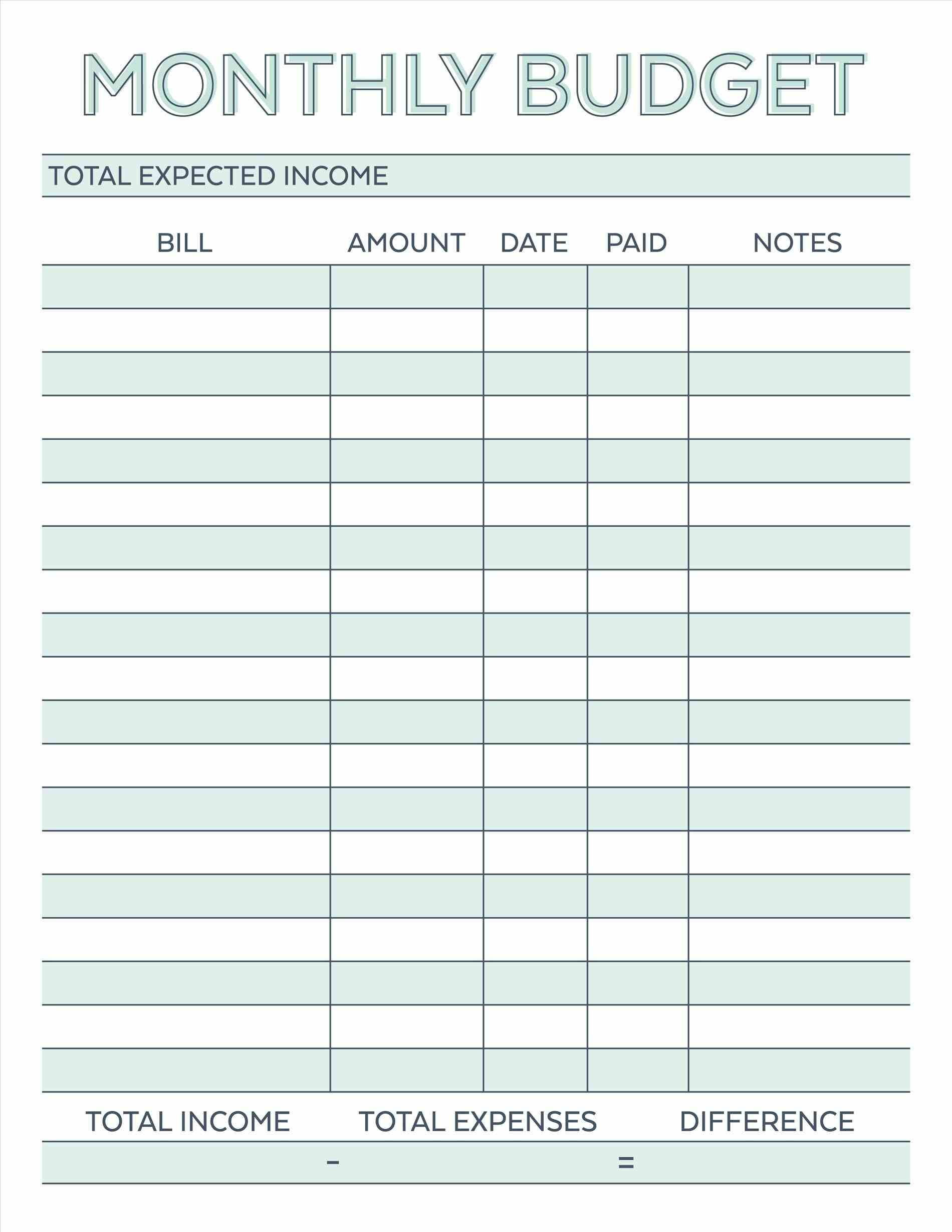 Bill Spreadsheet Template Free Within Bills Spreadsheet Template Budget Planner Worksheet Monthly Free