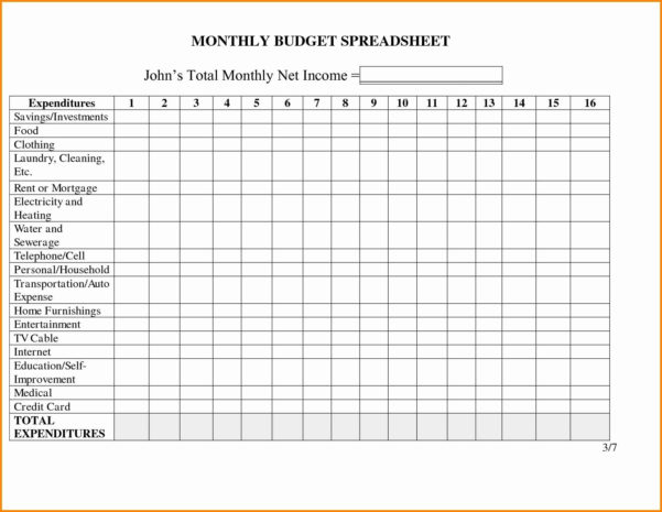 Bill Spreadsheet Template With Regard To Monthly Bill Spreadsheet Template Free Invoice Budget Excel