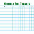 Bill Tracker Spreadsheet Pertaining To Bill Tracker Spreadsheet Printable Payment Weekly Monthly Template