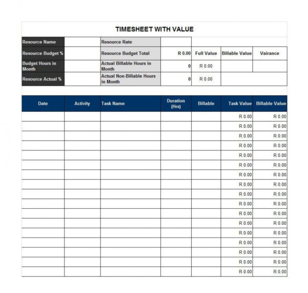 Billable Hours Spreadsheet Template In 013 Week Timesheet Template Free Then Student Employee Information
