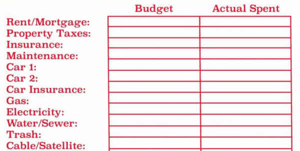 Bills And Budget Spreadsheet Pertaining To Monthly Bill Spreadsheet Template Free Budget Templates Excel